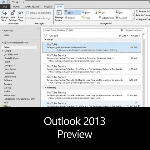 Outlook 2013 Preview