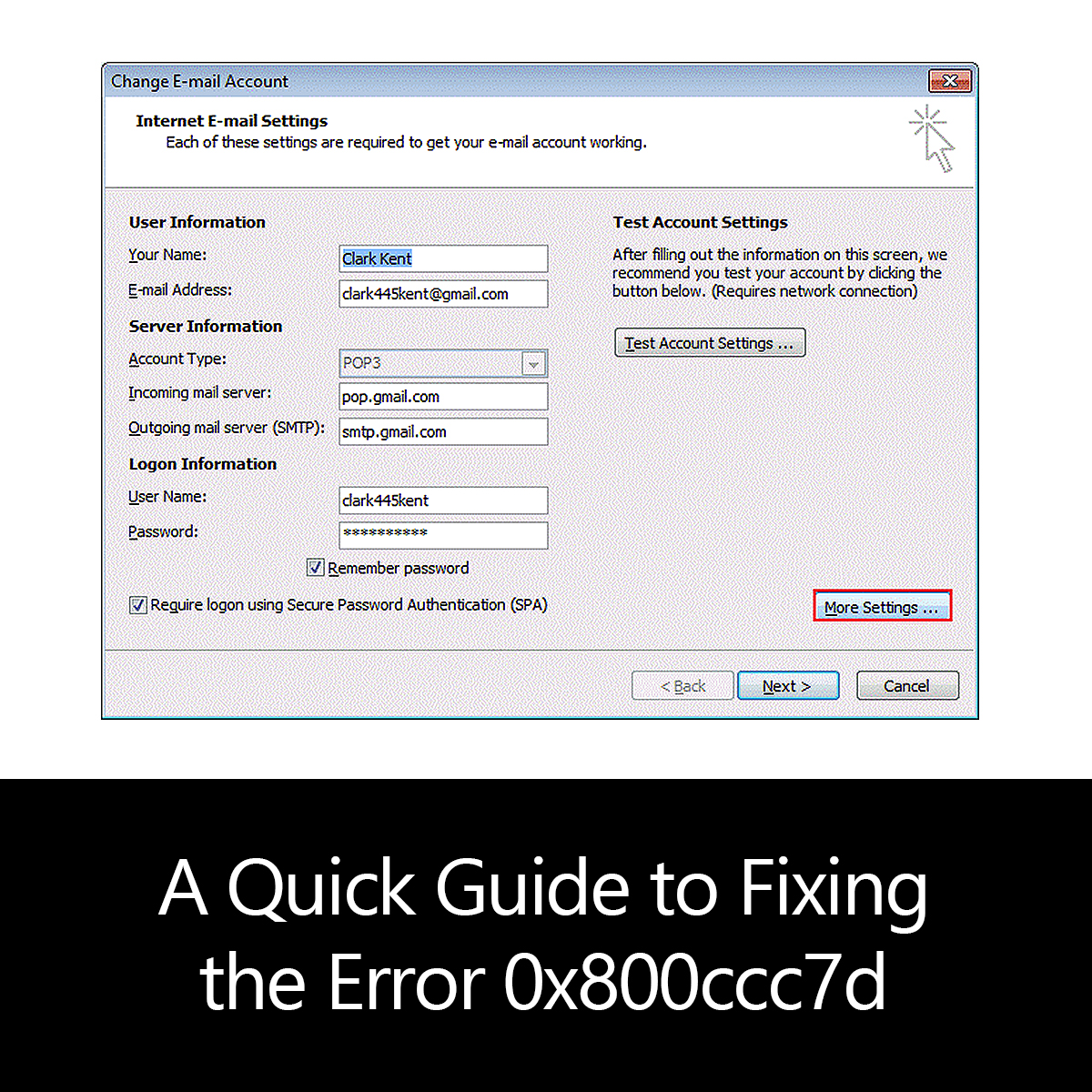 A Quick Guide to Fixing the Error 0x800ccc7d