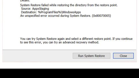 Fix the System Restore Not Working Malfunction