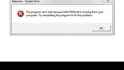 Program Cannot Start Because MSVCR100.Dll Is Missing, What Can I Do