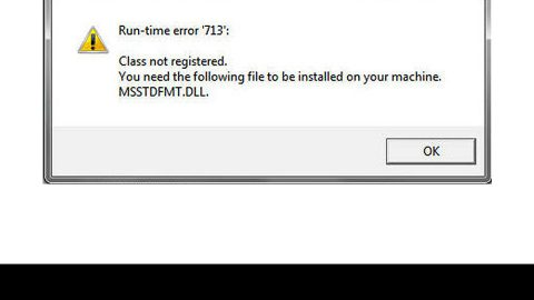 How to Fix Runtime Error 713