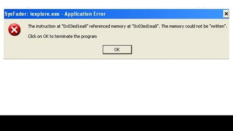 How to Fix the Sysfader iexplore.exe Application Error