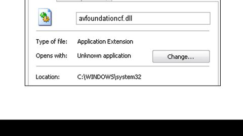 How to Fix the AVFoundationCF.dll Error on Your PC