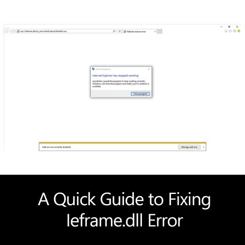 A Quick Guide to Fixing Ieframe.dll Error