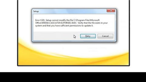 How to Fix Error 1321 on Your PC