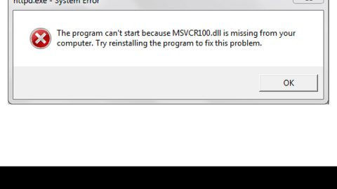 How to Repair Missing MSVCR100.dll Error