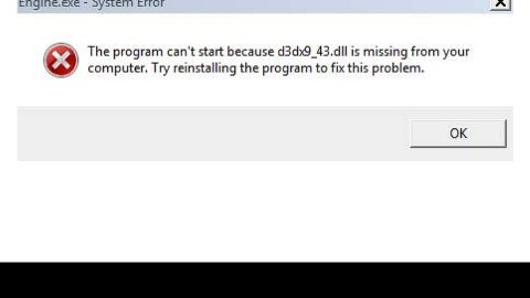 An Easy Guide to Fixing Error D3dx9_43.dll on Your PC