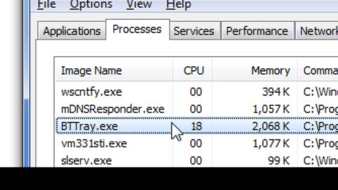 How to Fix Bttray.exe Application Error