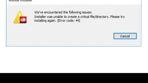 A Patch for Windows Code 44 Error