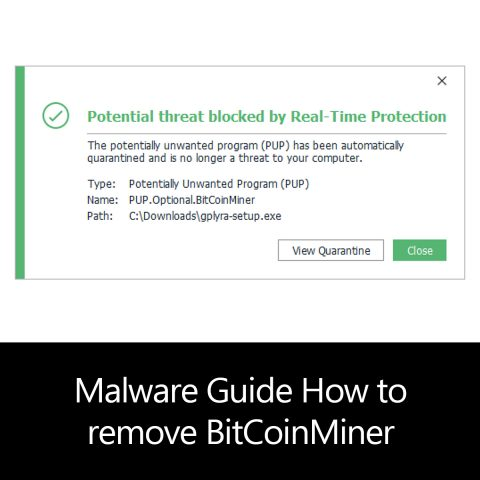 Malware Guide: How to Remove BitCoinMiner