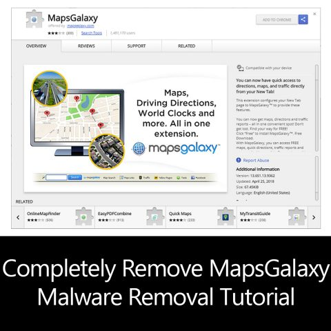 Completely Remove MapsGalaxy Malware Removal Tutorial