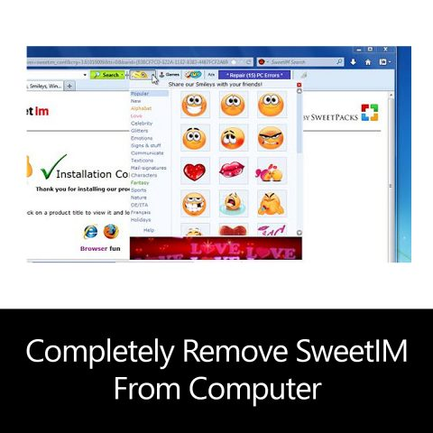 Completely Remove SweetIM From Computer