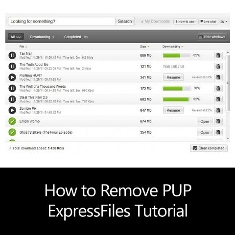 How to Remove PUP ExpressFiles Tutorial
