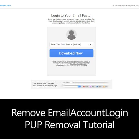 Remove EmailAccountLogin PUP Removal Tutorial