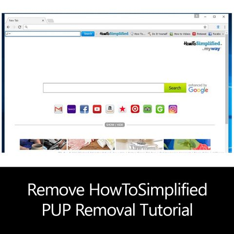 Remove HowToSimplified PUP Removal Tutorial