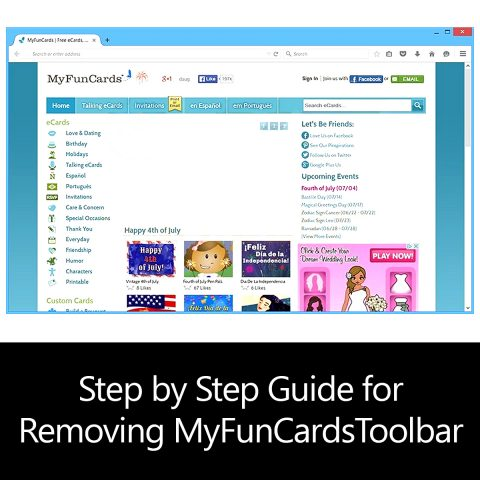 Step by Step Guide for Removing MyFunCardsToolbar