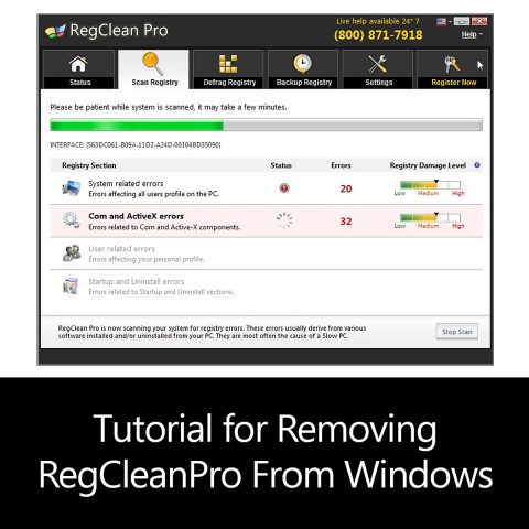 Tutorial for Removing RegCleanPro From Windows