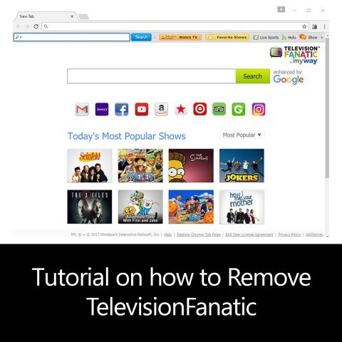 Tutorial on how to Remove TelevisionFanatic