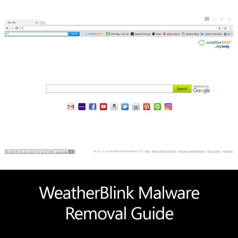 WeatherBlink Malware Removal Guide