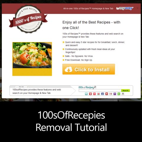 100sOfRecepies Removal Tutorial