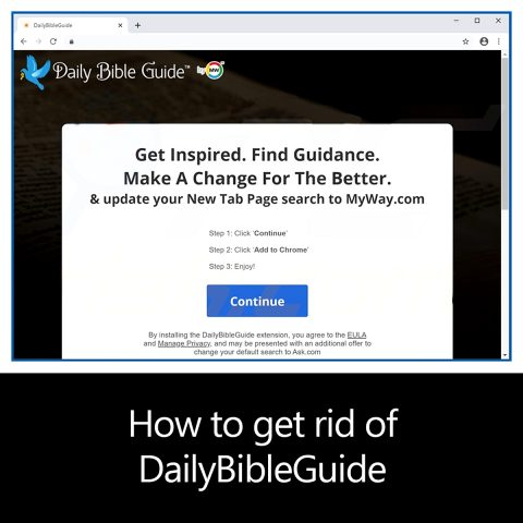 How to get rid of DailyBibleGuide