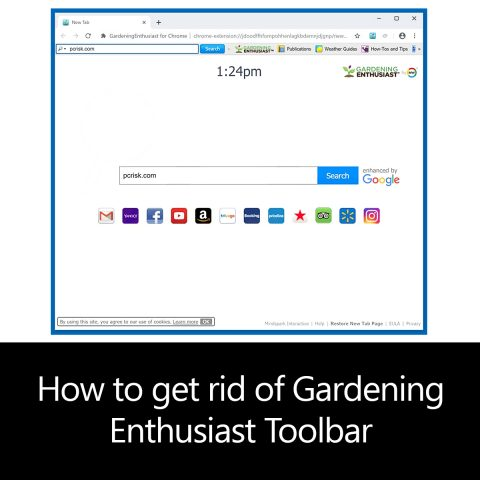 How to get rid of Gardening Enthusiast Toolbar