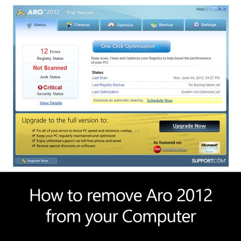 How to remove Aro 2012 from your Computer