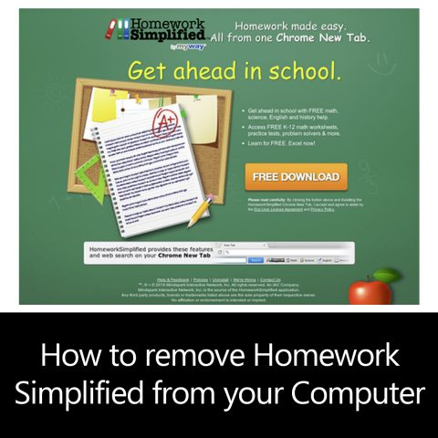 How to remove Homework Simplified from your Computer