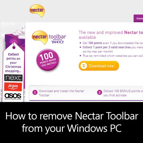 How to remove Nectar Toolbar from your Windows PC