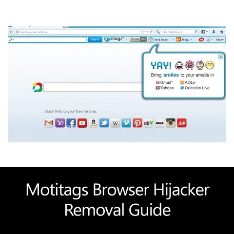 Motitags Browser Hijacker Removal Guide