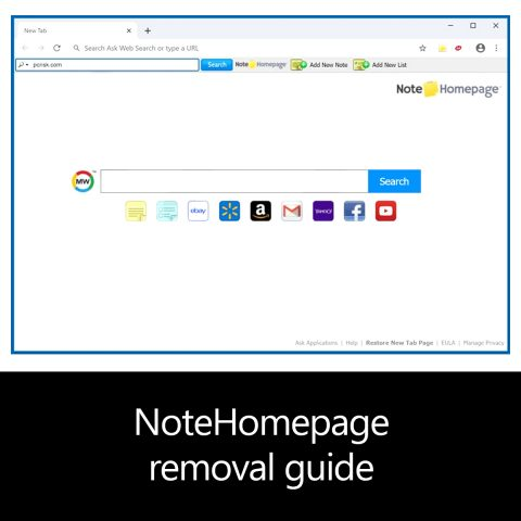 NoteHomepage removal guide