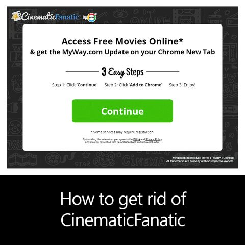 How to get rid of CinematicFanatic
