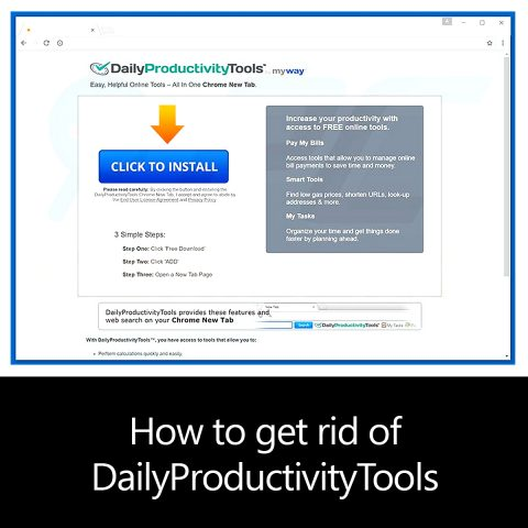 How to get rid of DailyProductivityTools