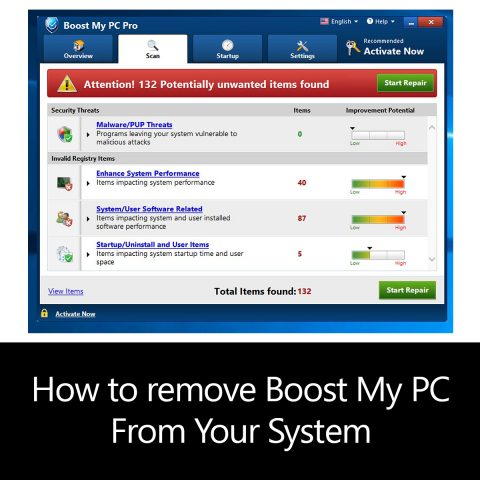 How to remove Boost My PC From Your System