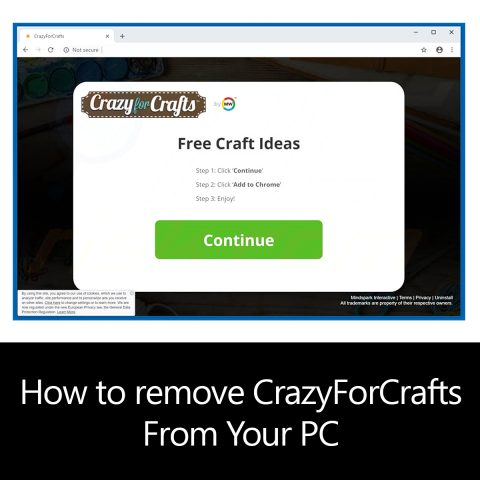 How to remove CrazyForCrafts From Your PC