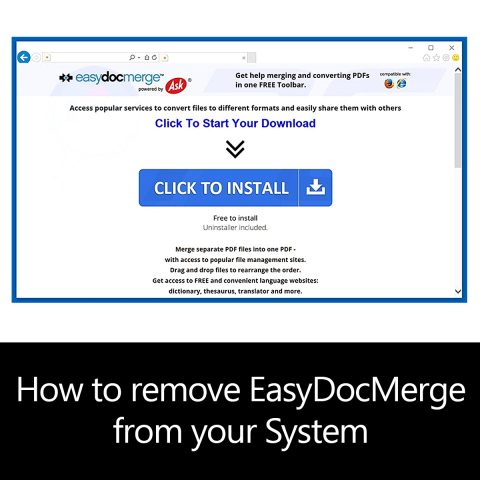 How to remove EasyDocMerge from your System