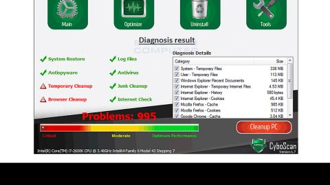 How to remove CyboScan PC Optimizer