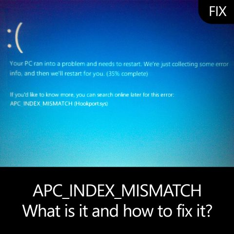 APC_INDEX_MISMATCH - What is it and how to fix it?