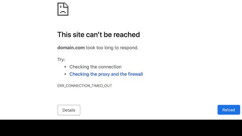 Err Connection Timed Out issue in Chrome