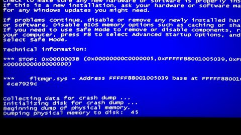 fltmgr.sys Blue Screen on Windows 10