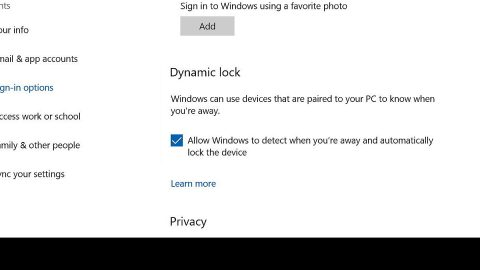 Windows Dynamic Lock is missing or not working