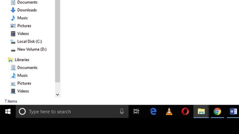 Enable or Disable Status Bar in File Explorer