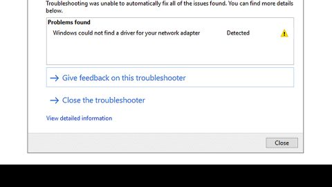 Windows could not find a driver for adapter