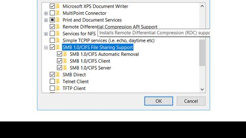 Your system requires SMB2 or higher Error