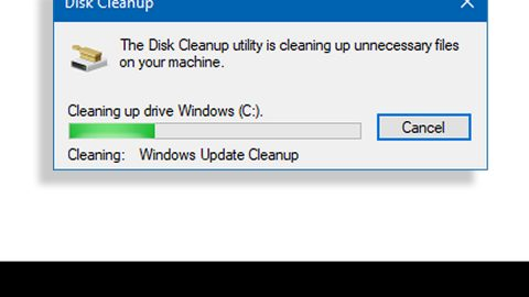 Disk Cleanup is stuck on Update Cleanup