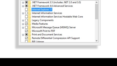 Enable or Disable Optional Windows Features