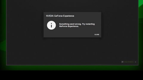NVIDIA Share is not working or responding