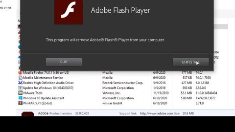 Completely Uninstall and Remove Flash