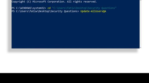 Disabling Security Questions in Windows