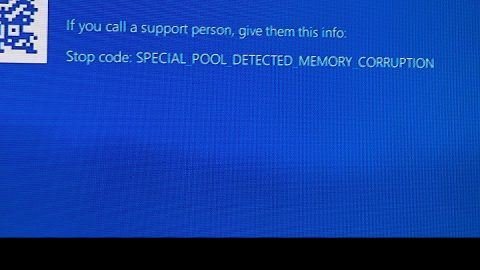 SPECIAL POOL DETECTED MEMORY CORRUPTION